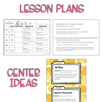 Two and Three's PETS Lesson Plans