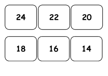 Two and three times table matching game