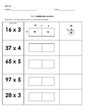 Two by One and Two by TwoDigit Multiplication Area Model