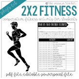 Two by Two Fitness Worksheet