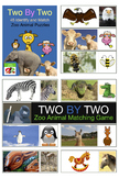 Matching Game with Zoo Animals  - Distance Learning Pre-K,
