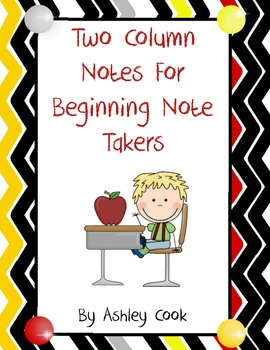 Two colum notes for beginning note takers