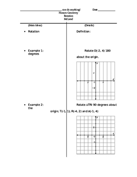 Two-column notes on Rotations