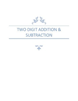 Two digit Addition & Subtraction, Daily Drill