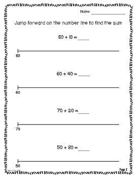 Two-digit Addition & Subtraction on the Empty Number Line
