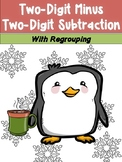 DOUBLE DIGIT SUBTRACTION with regrouping *Winter