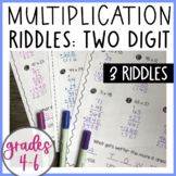 Two-digit by Two-digit Multiplication Riddles