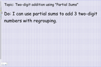 Two digit addition using Partial Sums