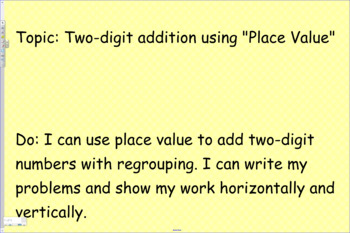 Two digit addition using Place Value