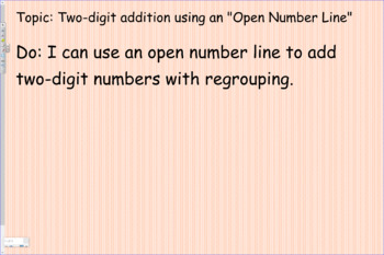 Two digit addition using an open number line