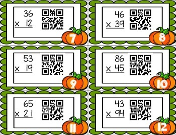 Two digit by Two Digit Multiplication QR Scoot