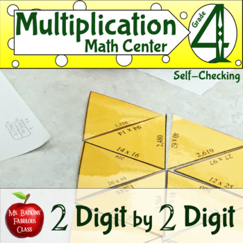 Multiplication Two Digit by Two Digit Self Checking Math Center