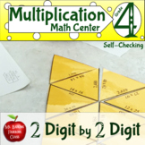 Multiplication 2 Digit by 2 Digit Self Checking Math Center Distance Learning