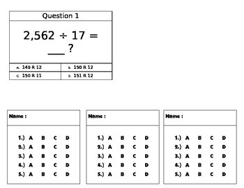 Two digit divisor activity