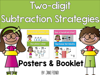 Two digit subtraction strategy posters and booklet