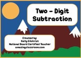 Two-digit subtraction with borrowing / regrouping SMART notebook lesson