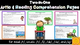 Two-in-One Artic and Reading Comprehension Worksheets for Distance Learning