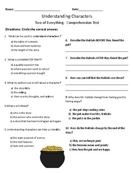 Two of Everything Comprehension & Vocabulary Test - Journeys