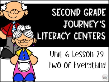 Two of Everything Journey's Literacy Centers - Second Grade Lesson 29