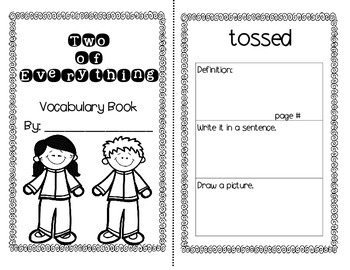 Two of Everything Journey's Activities - Second Grade Lesson 29