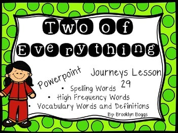 Two of Everything Powerpoint - Second Grade Journeys Lesson 29