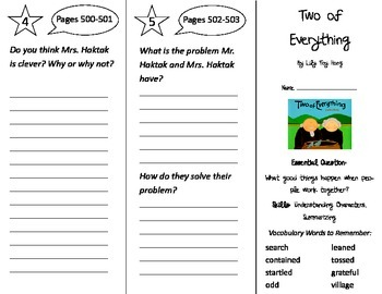 Two of Everything Trifold - Journeys 2nd Gr U 6 Wk 4  (2014, 2017 Common Core)