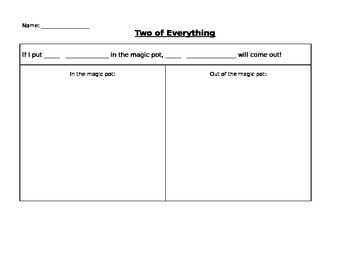 Two of Everything Worksheet Template