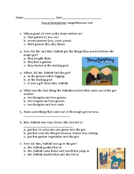 Two of Everything comprehension quiz