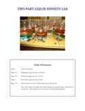Two part liquid density lab