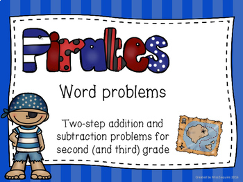 Two-step addition and subtraction word problems (pirate themed)