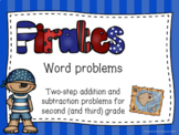 Two-step word problems (pirate themed)