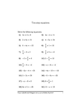 Two-step equations 3