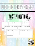 Two step equations - Which one Doesn't belong