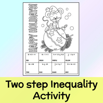 Two step inequality activity