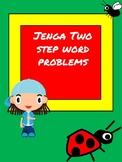 Two step word problem Jenga!