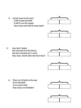Two step word problems using tape/bar diagrams