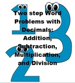 Two-step word problems with decimals: 4 Operations