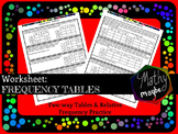 Two-way Frequency Tables
