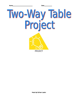 Two-way table Project