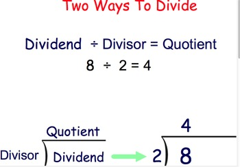 Two ways to divide: Division rules & terms