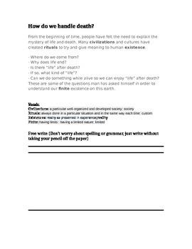 Two week long Dia de los Muertos Plan (30 minute lessons)