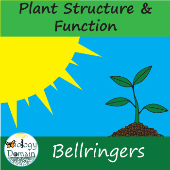 Two weeks of Plant Structure and Function Bell Ringers Warm Ups with Answer Key
