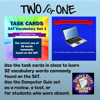 Two4One SAT Vocabulary Activities Set 1