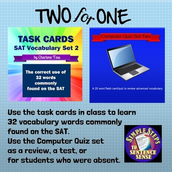 Two4One SAT Vocabulary Activities Set 2