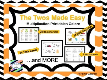 Twos Made Easy--Multiplication Printables Galore