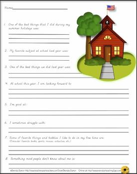 Back to School: ALL ABOUT ME Package for 2nd & 3rd Grades!