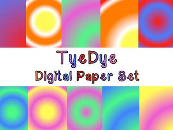 TyeDye Digital Paper Set