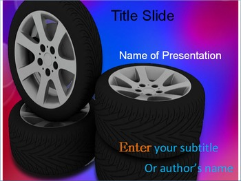 Tyres PPT Template