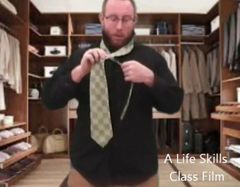 Tying a Tie Life Skills
