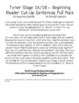 Tyner - Stage 2 Cut Up Sentences Pack